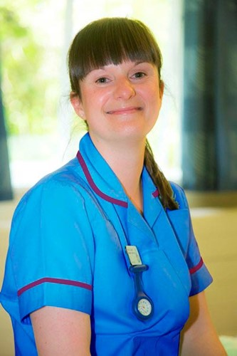Paula Cowgill, paediatric staff nurse
