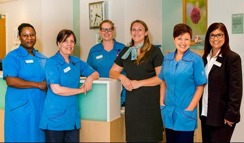 Oncology nurse team at Spire Leeds
