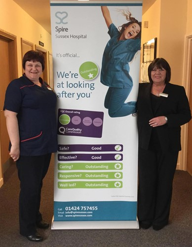 Penny Masters (Matron) and Linda Dineen (Hospital Director)