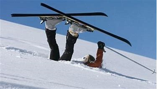 Image of a skier