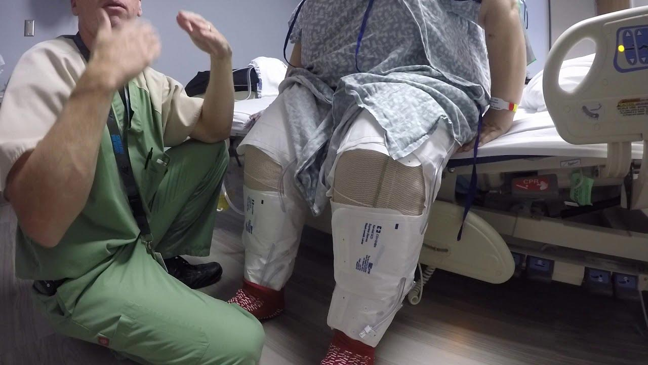 The bilateral simultaneous knee replacement