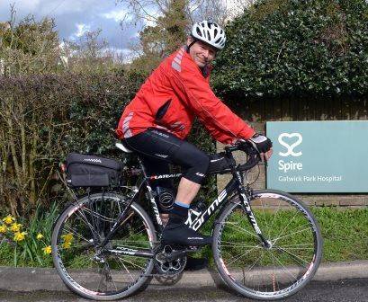 Sixty-five year old patient back on his bike just six weeks after surgery