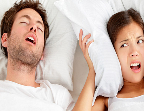 Stop snoring to get a sound nights sleep