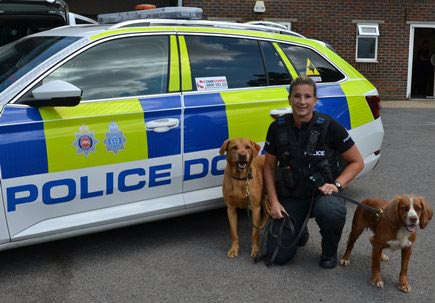 Police dog handler has hip replacement surgery at age 42