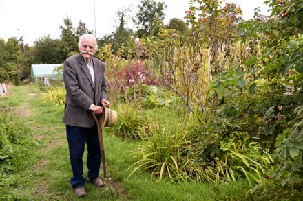 Growing stronger - John back on the allotment after pioneering hip surgery