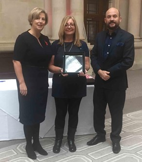 Angie Martin (centre), Matron at Spire Parkway, received the exemplary awards