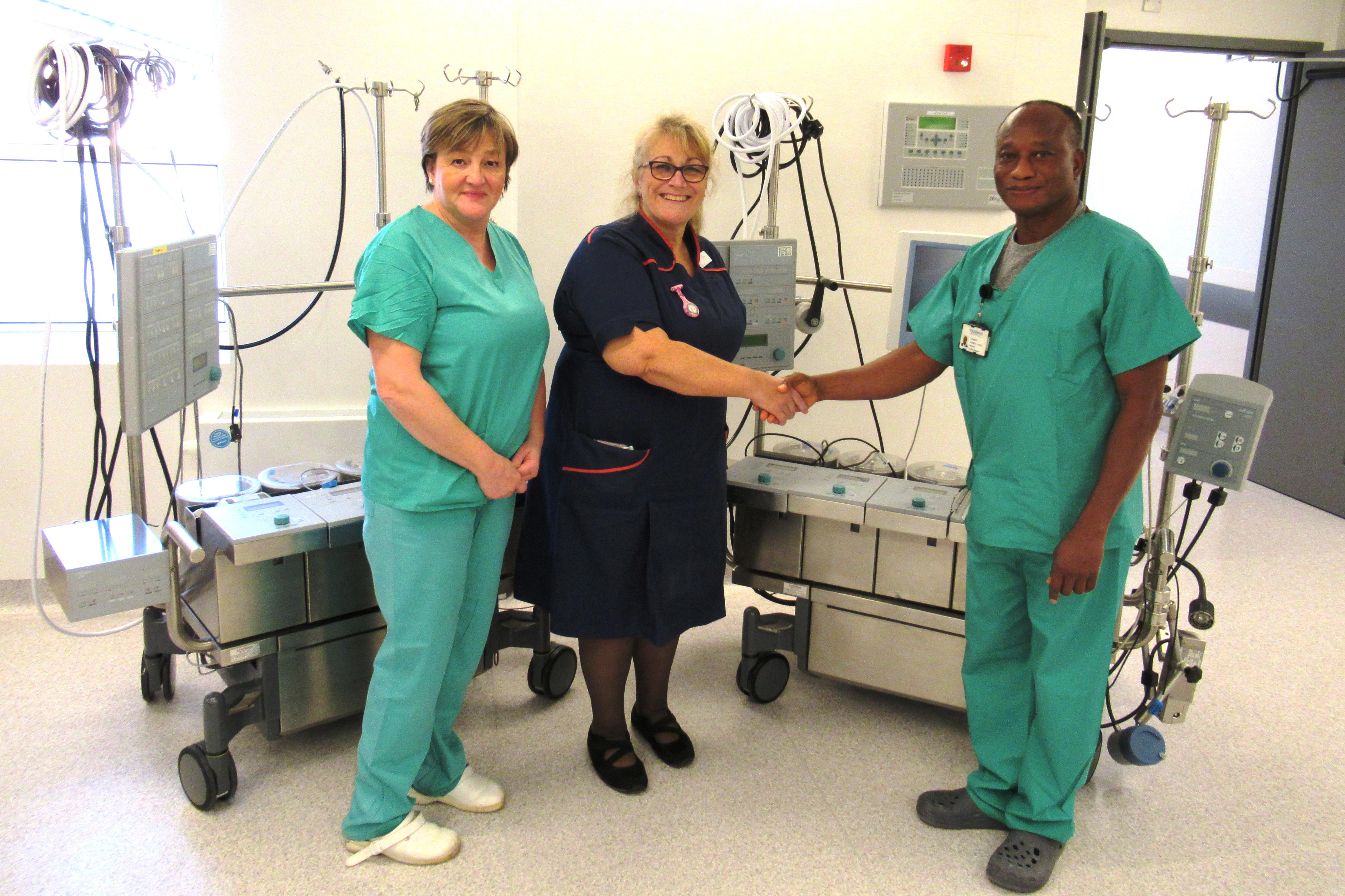 Spire St Anthony's Hospital donates two cardiopulmonary bypass machines