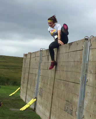 Mollie takes on gruelling 12km obstacle challenge
