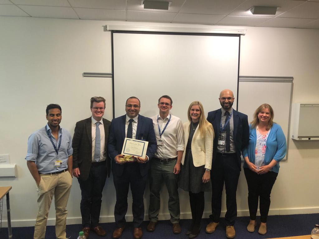 Young surgeons honour for top trainer