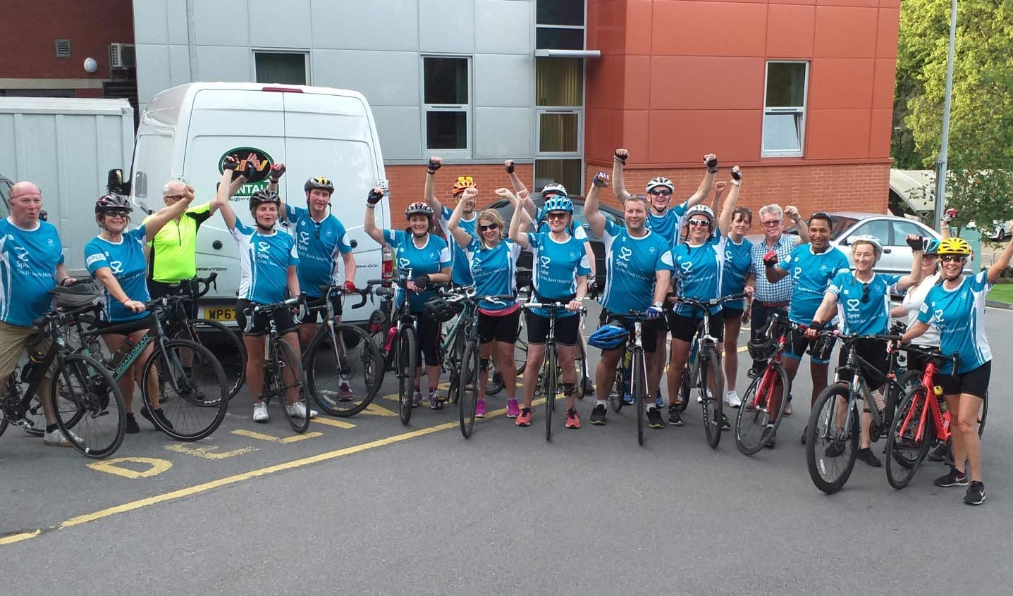 Spire South Bank Hospital cycle over 1,400 miles for charity