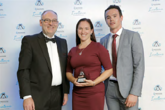 Sally Harvey receives 'Highly commended' at the National Apprenticeship Awards