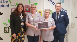 Spire Hartswood's housekeeping team achieve Silver Award in Continuous Advancement Programme