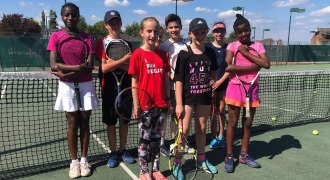Gatwick Park Hospital serve up an ace for young tennis players