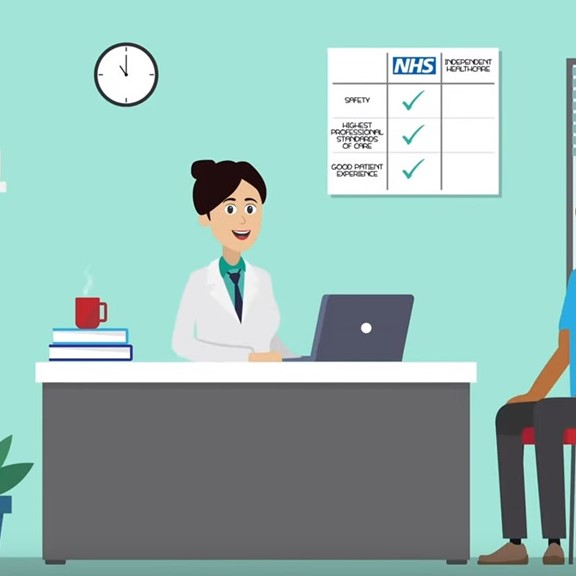 IHPN video on what to expect from independent healthcare