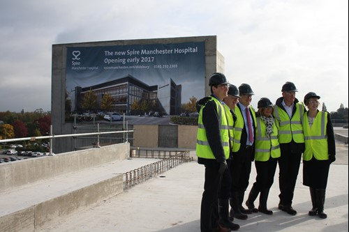 New Spire Manchester Hospital topping out ceremony