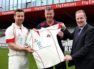 Lancashire captain Steven Croft, Cricket Director and Head Coach Ashley Giles, Chris Chadiwck w330.jpg