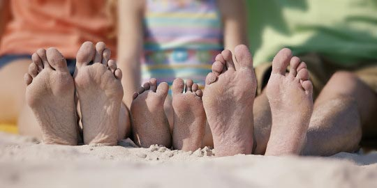 Feet on the sand